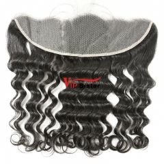 #1b Brazilian Virgin Human Hair 13X4 Lace Frontal Deep Wave